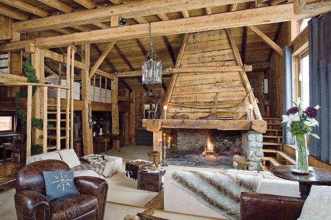 wohnzimmer einrichtungsideen landhaus ~ kreative deko-ideen und ... - Kamine Landhaus Chalet