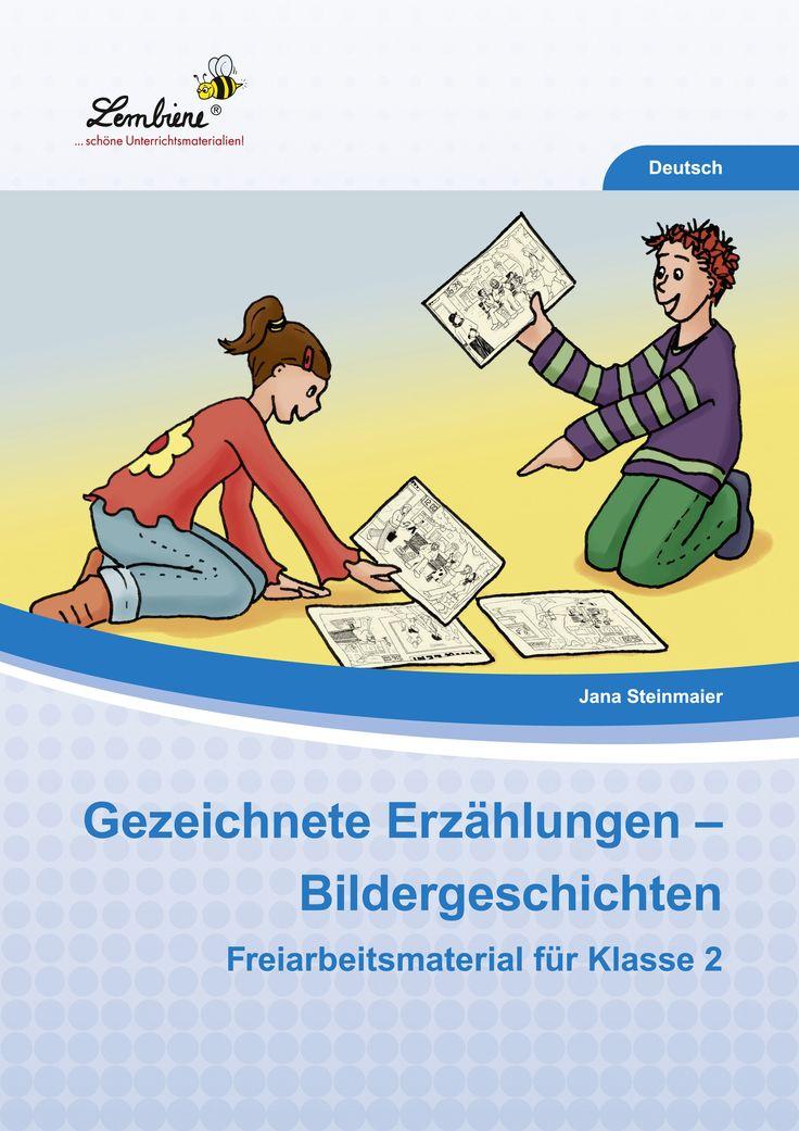 Unser Material hält 6 fröhliche, humorvolle und nachdenkliche Bildergeschichten sowie 24 Arbeitsblätter für dich bereit. Jede Bildergeschichte besteht aus vier Bildern. Trainiere mit deinen Schülern, die Bilder genau zu betrachten, sie zu verstehen und sie in einen Zusammenhang zu bringen. Die Aufgaben auf den Arbeitsblättern fördern die Sprech- und Schreibkompetenzen der Kinder auf vielfältige Weise. #Lernbiene #Grundschule #Unterrichtsmaterial #Deutsch #Bildergeschichten #Schreiben…
