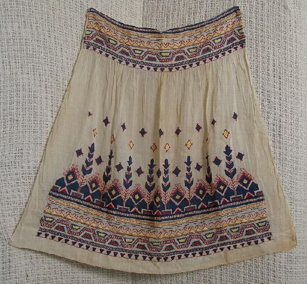 3168: 19th Century Romanian Embroidered Apron : Lot 3168