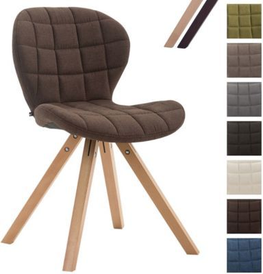 Design Retro Stuhl ALYSSA, Bein Form Square, Stoff Sitz Gepolstert,