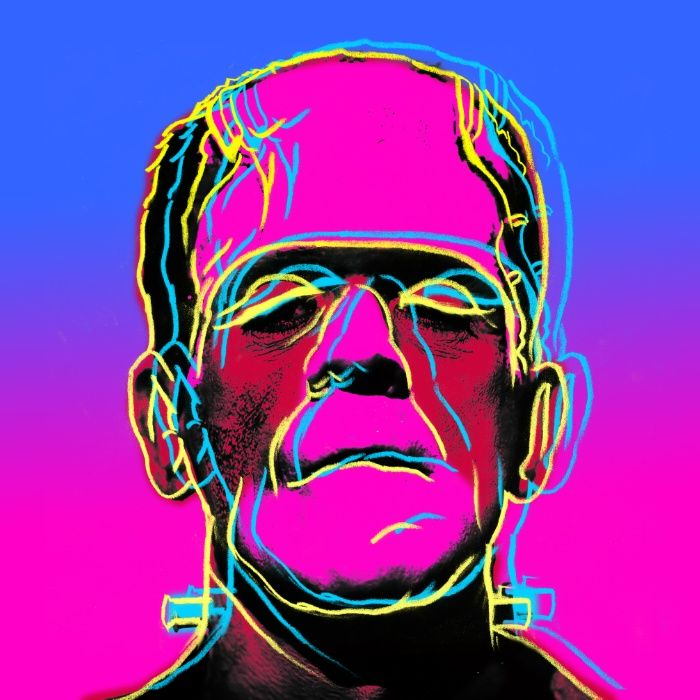Fuchsia Frankenstein Art Print