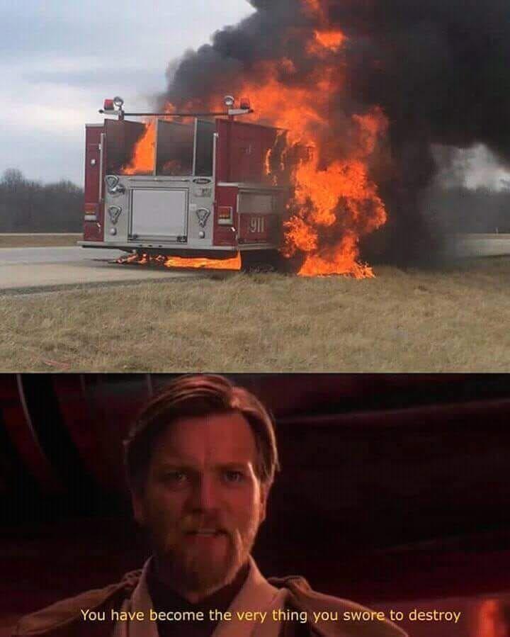 Starwars Firetruck Fire Funnymemes Funny Meme Memes Star Wars Humor Funny Star Wars Memes Star Wars Jokes