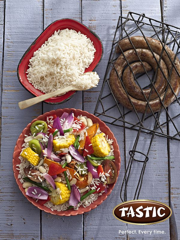 Roasted Summer Vegetable Rice with Grilled meats http://bit.ly/14oSh4J