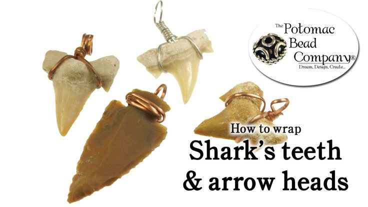 This tutorial from The Potomac bead Company shows you how to easily and quickly wrap shark's teeth or wrap arrow heads with wire, so that you can turn them i...