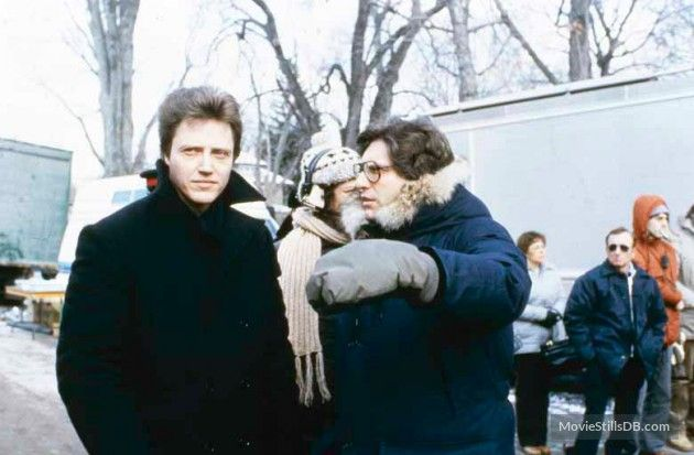 The Dead Zone - Behind the scenes photo of Christopher Walken & David Cronenberg