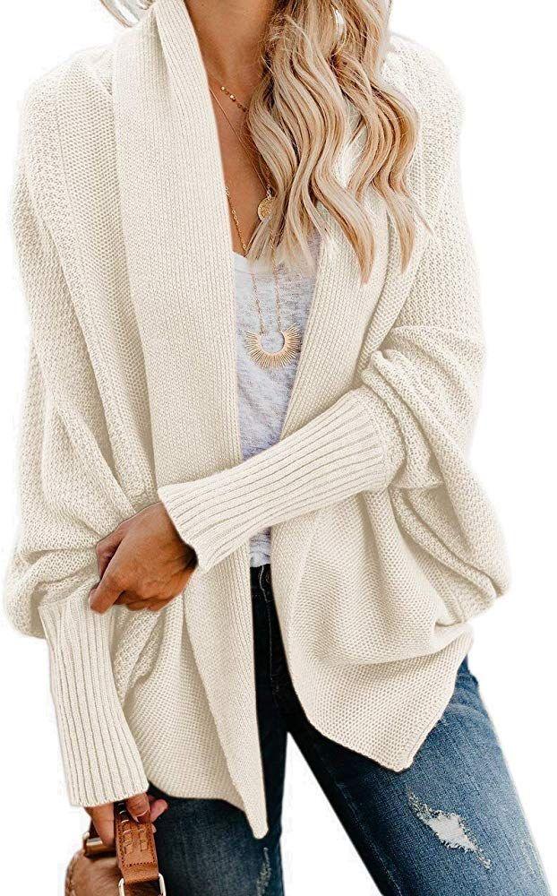 White Basic Cardigan Oversized Cardigan Kimono cardigan Chunky Cardigan Chunky knitwear, Wrap Coat Maxi jacket Long knit cardigan