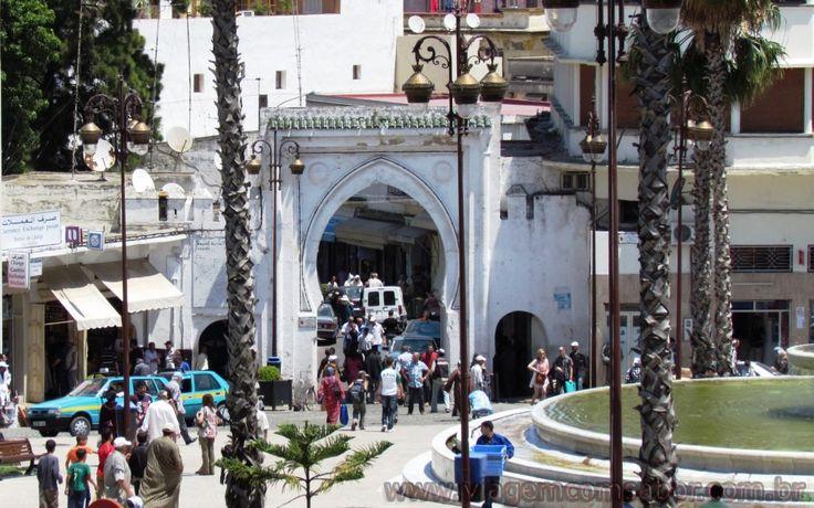 Entrada Medina Tanger - Marrocos - Viagem com Sabor