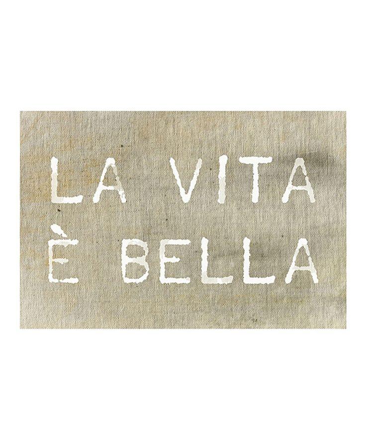 Another great find on #zulily! 'La Vita È Bella' Art Print by Oliver Gal #zulilyfinds