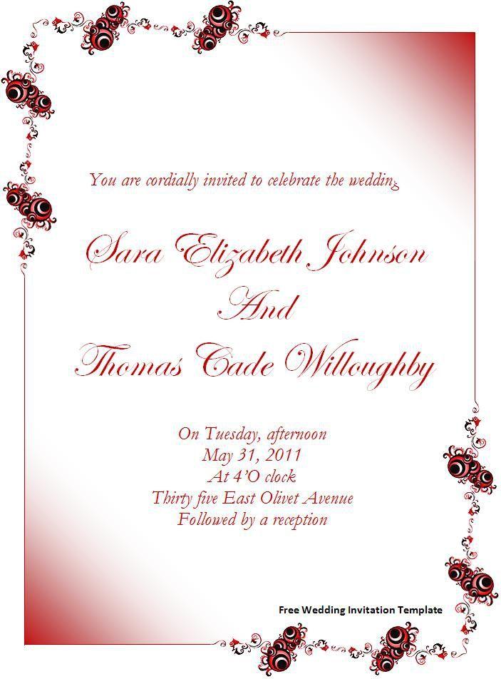 115 best Wedding Invitation Templates images – Wedding Reception Invitation Templates Free