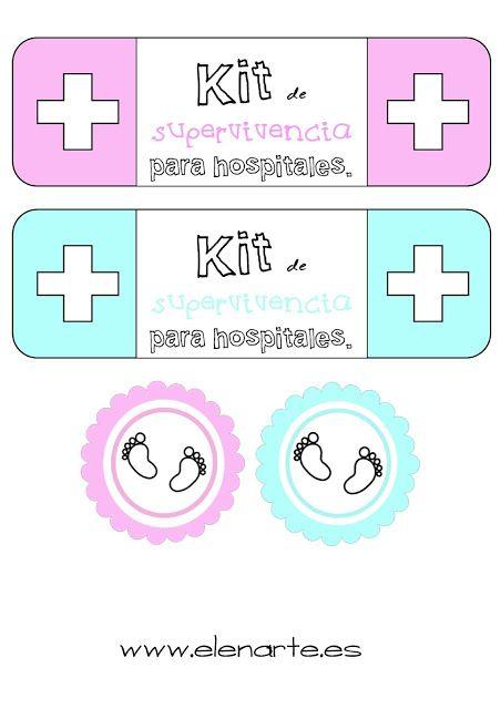 Como hacer un kit de supervivencia para hospitales para regalar a las nuevas mamás. | Elenarte
