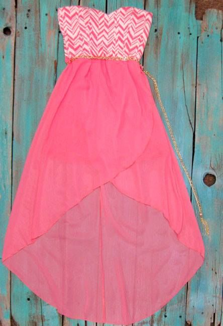 High Low Country Dress with chain belt perfect dress for spring or bridesmaids dresses $35.00