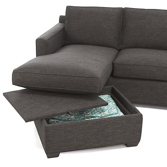 The perfect sectional! Change the chaise end by switching the cushions & the ottoman :: Davis 3-Seat Lounger Sofa in Sectional Sofas | Crate and Barrel