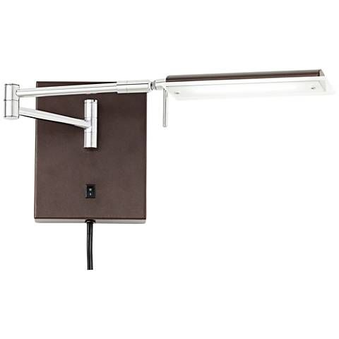 offerman brown led task swing arm wall lamp style 12d66