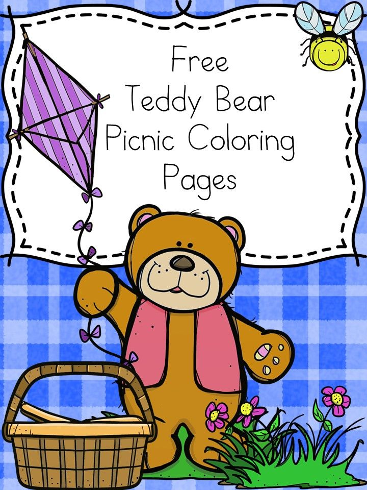 Teddy Bear Picnic Coloring Pages Free And Fun Teddy