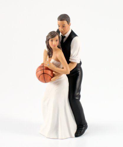 Weddingstar Basketball Dream Team Bride and Groom Couple Figurine for Cakes, Ethnic