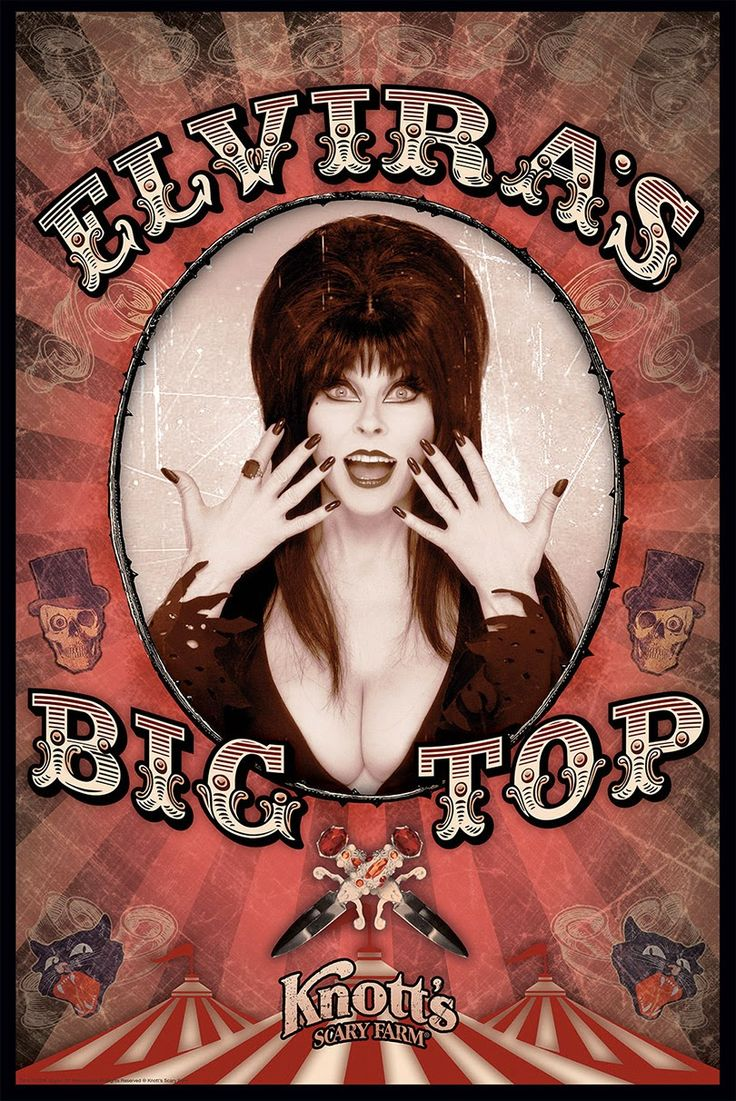 FRIGHT FEST! AMUSEMENT ATTRACTION! Elvira's Big Top 2014