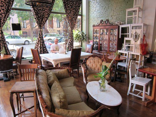 Urban Vintage Cafe In Brooklyn...like The Idea Of An Antique Shop/