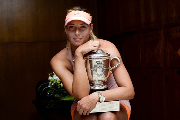 Ooh la la...Sharapova! | Sport24 What a great champ!! She is a warrior not unlike Rafa!!!! Never ever gives up.