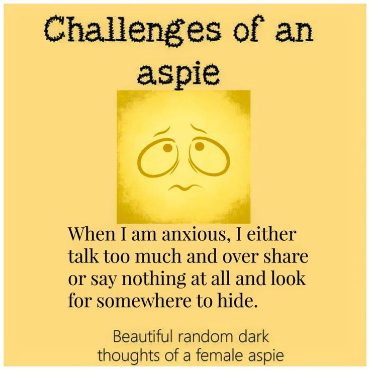 autism aspergers women aspie female traits  https://www.facebook.com/Beautifulrandomdarkthoughtsof3autisticfemales/photos/a.1132180273467723.1073741859.906695276016225/1132175703468180/?type=3&theater