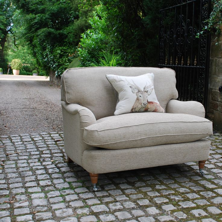Super Soft Romance Love Seat In Zara Sabbia Fabric With Beech Nickel Castors Armchairs Uksofasluxury