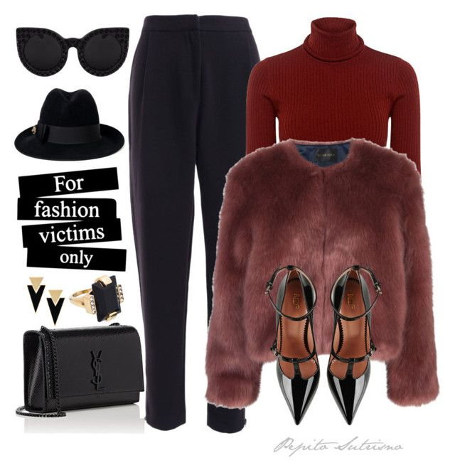 """""""for fashion victims only"""" by pepito-sutrisno on Polyvore featuring A.L.C., Stine Goya, RED Valentino, Yves Saint Laurent, Delalle, Gucci and Marni"""