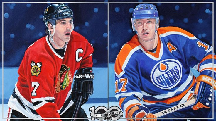 CENTENNIAL PORTRAITS:  Chris Chelios, Jari Kurri portraits unveiled  Color paintings of 100 Greatest NHL Players will be revealed on NHL.com every Monday in 2017  -  May 8, 2017