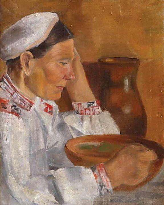 Portrait of a mother (años 1920-30) Alexander Aleksandrovich Deineka (Алексaндр Алексaндрович Дейнeка. Unión Soviética. Rusia, 1899-1969)