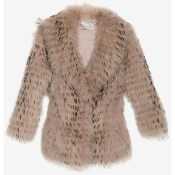 Yves Salomon Exclusive Shawl Collar Fur Jacket ($2,239) ❤ liked on Polyvore featuring outerwear, jackets, fur, brown fur jacket, striped jacket, stripe jacket, shawl collar jacket and yves salomon