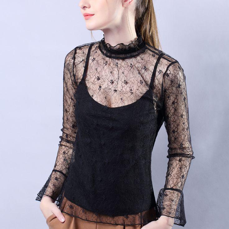 spring 2017  new sexy black single bud silk t-shirts