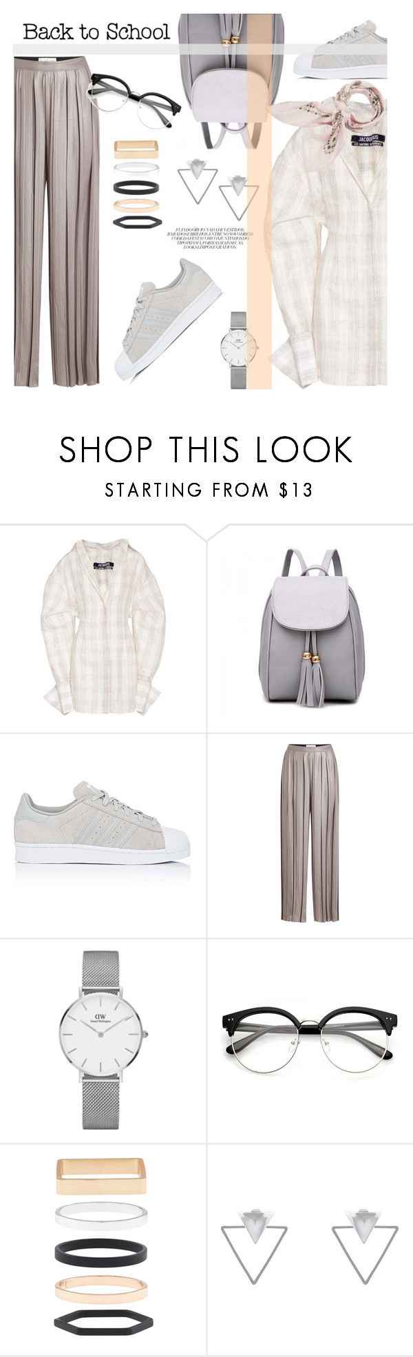 """07.08.17-2"" by malenafashion27 ❤ liked on Polyvore featuring Jacquemus, adidas, Golden Goose, Daniel Wellington, Accessorize, Eloquii and Manipuri"