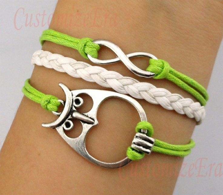 Owl Bracelet. A previous pinner said,