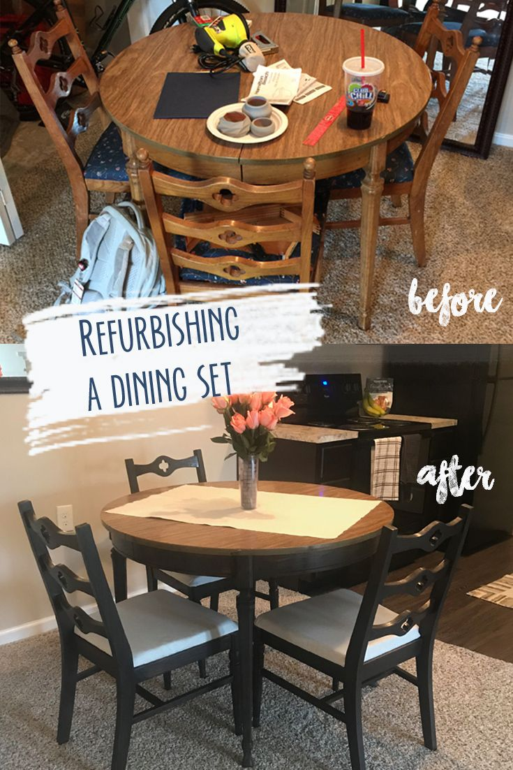 Refurbishing a Dining Set | DIY Crafts | Outdoor furniture ...