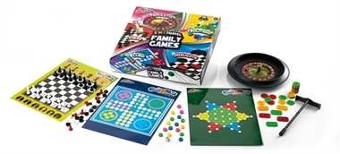 Set includes Roulette, Solitaire, Draughts, Chess and Ludo. Suitable for children 3 years and over.