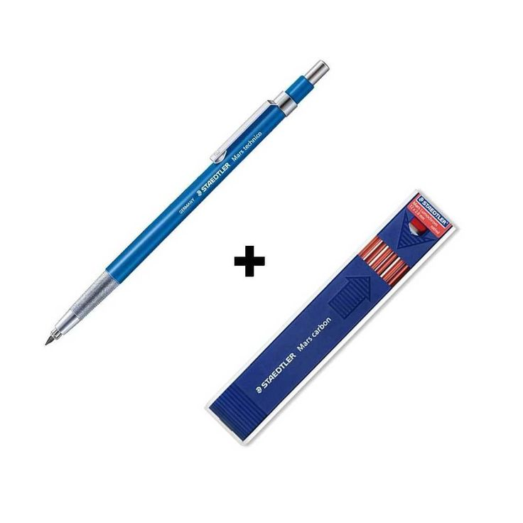 Staedtler Lead Holder 780C+Mars Carbon Red 2.0mm Mechanical Pencil Drawing Gift #STAEDTLER