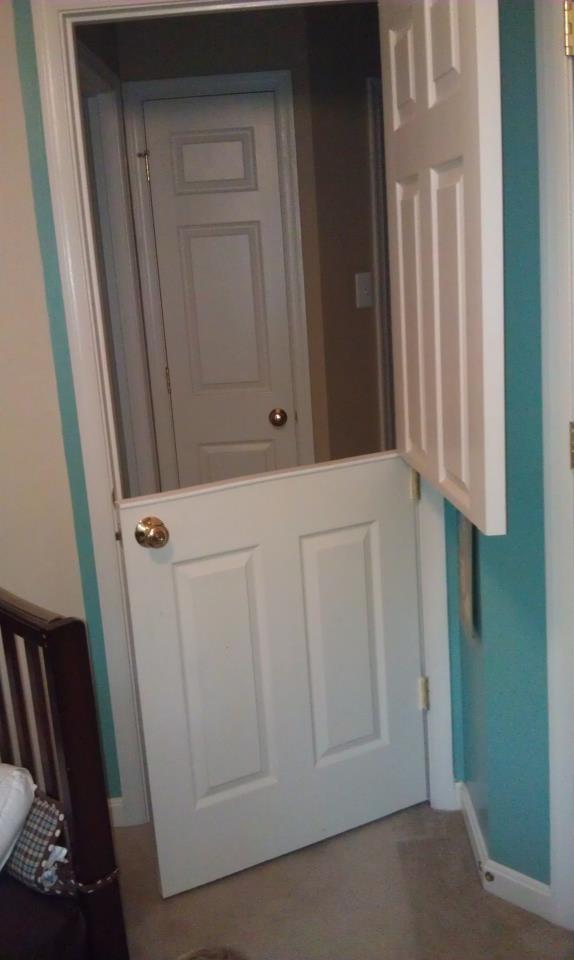 Half door daycare pinterest for Door to gate kontakt