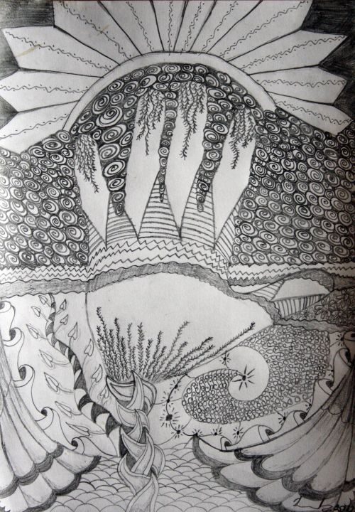 Dosegni Sunce / Touch the Sun (zentangles, doodles) by Renata Cekovic