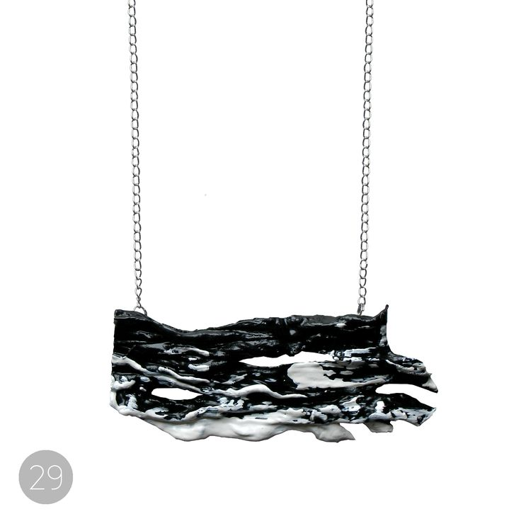 This beautiful necklace is a part of Oily Bird series designed by Liisa Tuimala.  Every piece is unique and numbered with tag. This necklace is the 29th in Oily Bird series.
