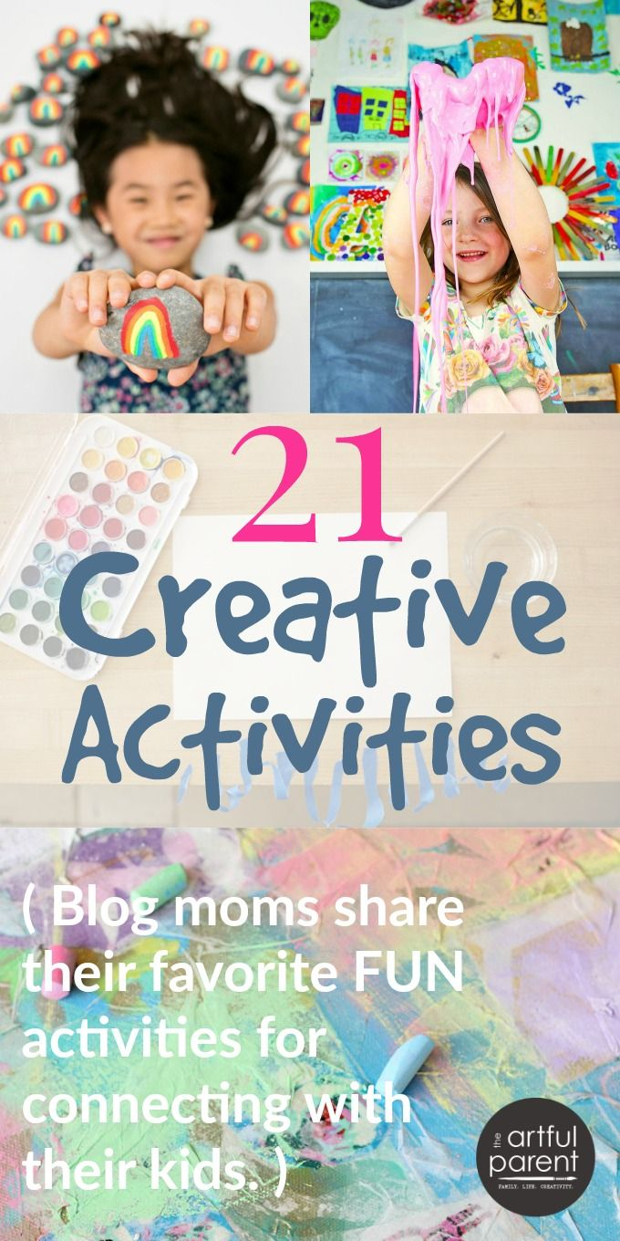 21 favorite creative activities by top bloggers. These activities are a fun way for families to connect while fostering long-term creativity!