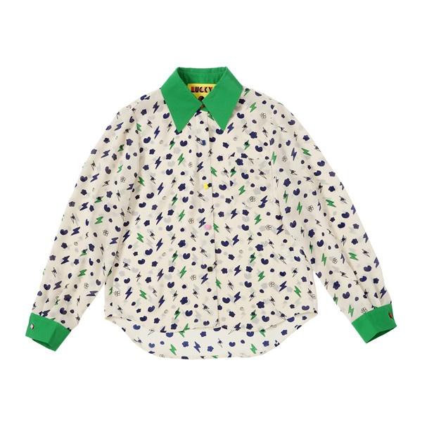[럭키슈에뜨] [스타☆아이템] New Chouette Printed Blouse ❤ liked on Polyvore