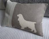 screen print dog pillow