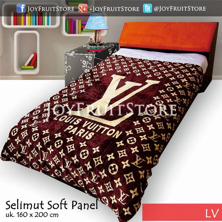 selimut bulu lembut halus (soft panel) lv joyfruitstore.com pin bbm 74258162, wechat joyfruitbedcover, whatsapp 081931151596