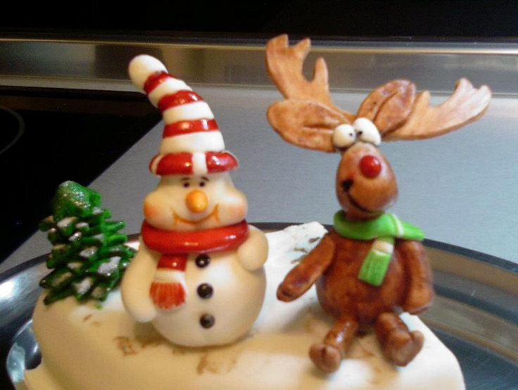 ...snowman and reindeer...