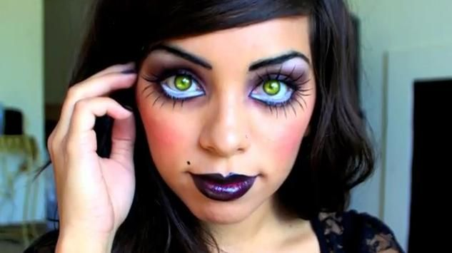 Scary Doll Makeup | ... show you how to be an evil doll or a Gothic doll like Chucky's Bride
