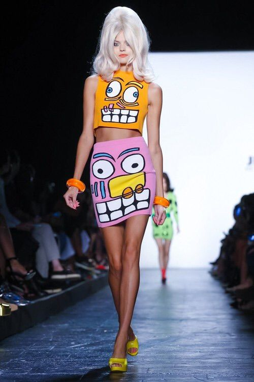 Image via We Heart It #colourful #fashion #kitsch #Moschino #runway