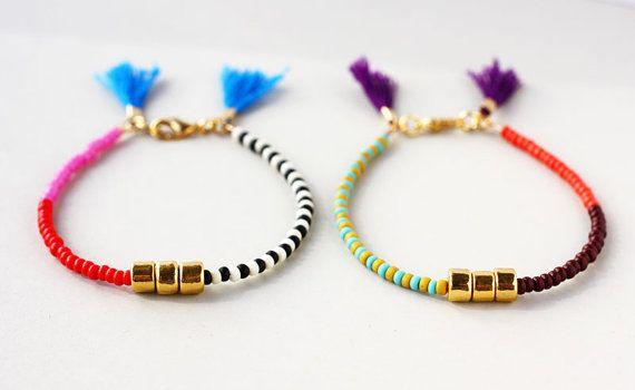 Kralen armband, gelaagde armband, gouden parel armband