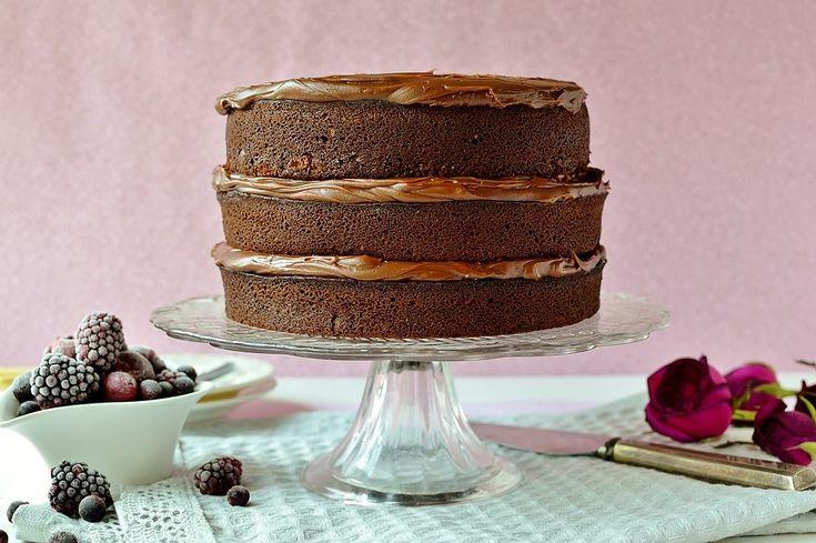 Konečným čokoládový dort Jak si vyrobit čokolády Layer Cake Konečným