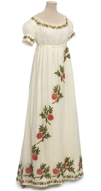 Vintage embroidered white gown