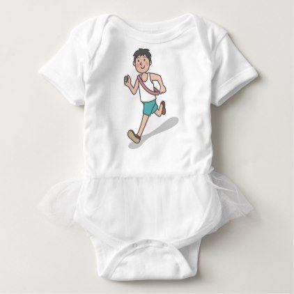 Running Anime Boy Baby Bodysuit - boy gifts gift ideas diy unique