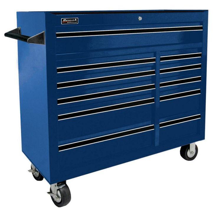 Homak Pro Series 11 Drawer Rolling Cabinet - BL04011410