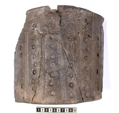 Spannformet kar, ca 300-tallet, funnet i 2012, i paktertunet under Kongsgårdprosjektets utgravning.
